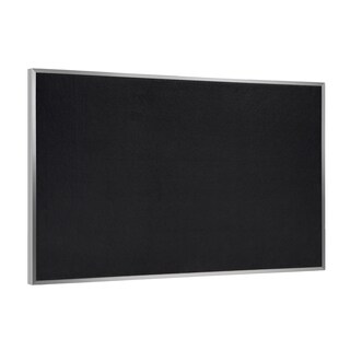 Ghent Black Recycled Rubber/Aluminum Frame 48.5-inch x 120.5-inch Bulletin Board