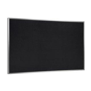 Ghent Black Rubber/Aluminum Framed Recycled Bulletin Board