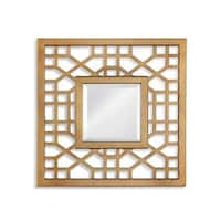 Bassett Mirror Company Dandridge Gold-tone Resin and Glass Wall Mirror