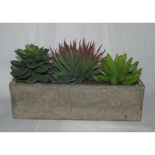 Jeco 6-inch Artificial Succulent Garden Planter