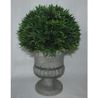 Jeco Green/Grey Polyester/Resin 12-inch Artificial Topiary Plant