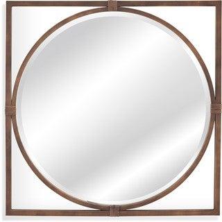 Sadie Antiqued Bronze Metal Wall Mirror