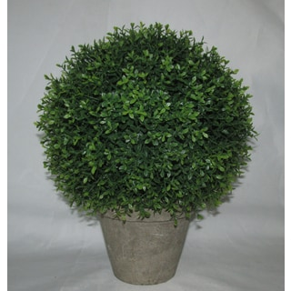 12-inch Round Polyester Artificial Topiary
