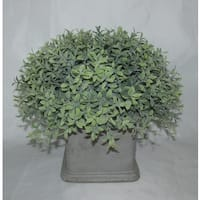 Jeco Polyester 11-inch Artifical Half Ball Topiary in Stone Base
