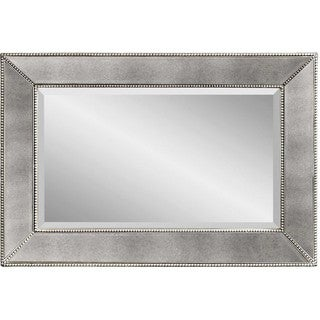 Beaded Clear-framed Wall Mirror