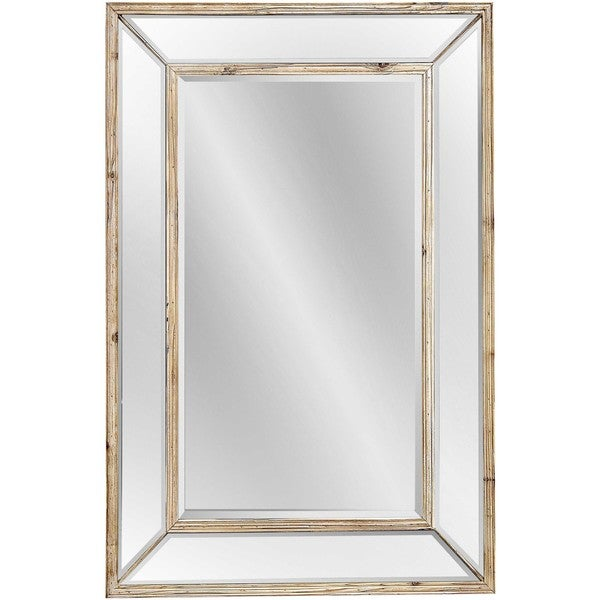 Bassett Pompano Wall Mirror with Brown Pine Frame