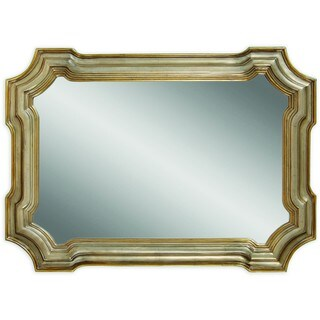 Bassett Angelica Wall Mirror with Goldtone and Silvertone Resin Frame
