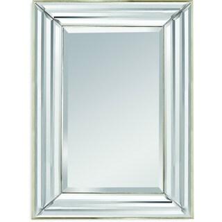 Bassett Silvertone Wood/Glass Wall Mirror