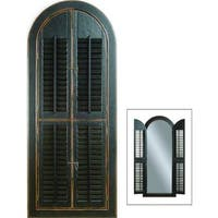 Bassett Black Wood Arched Shutter Mirror