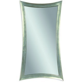 Basset Mirror Silver Leaf Finish Resin Hour Glass Wall Mirror