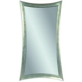 Basset Mirror Silver Leaf Finish Resin Hour Glass Wall Mirror