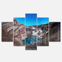 Designart ' Volcano Kamchatka Panorama' Landscape Glossy Metal Wall Art