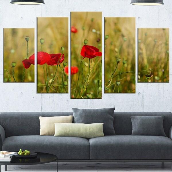 Unique Red Poppies Wall Art Elaboration - Wall Art Design ...