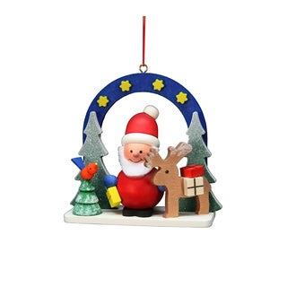Christian Ulbricht Starry Sky Santa Multicolored Wooden Hanging Ornament