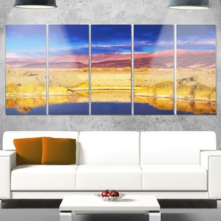 Designart 'Beautiful Northern Argentina View' Oversized African Landscape Glossy Metal Wall Art
