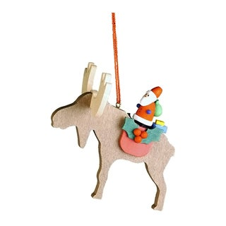 Christian Ulbricht Santa on Elk Ornament