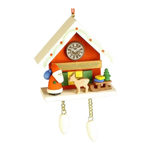 Ulbricht Santa With Red Cuckoo Ornament