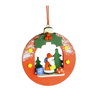 Christian Ulbricht Santa in Xmas Ball Wood Ornament