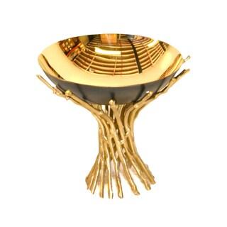 Brunei Bonfire Goldtone Brass 6.25-inch x 6-inch x 5.5-inch Bowl