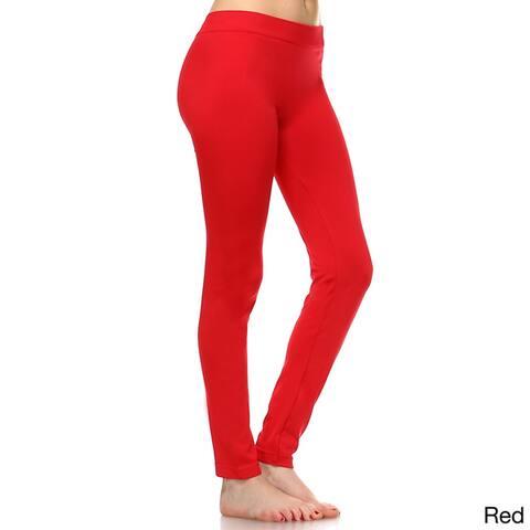 White Mark Women's Super-stretch Solid Leggings