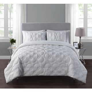 VCNY Atoll Embossed Circle Design 7-Piece Bed-in-a-Bag with Sheet Set