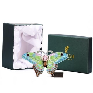 Matashi Multicolored Pewter Hand-painted Butterfly Ornament