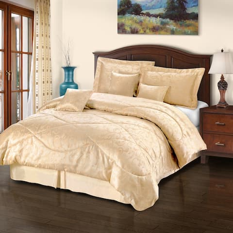 Traditional Oriental Scroll 7-Piece Comforter Set by Miranda Haus