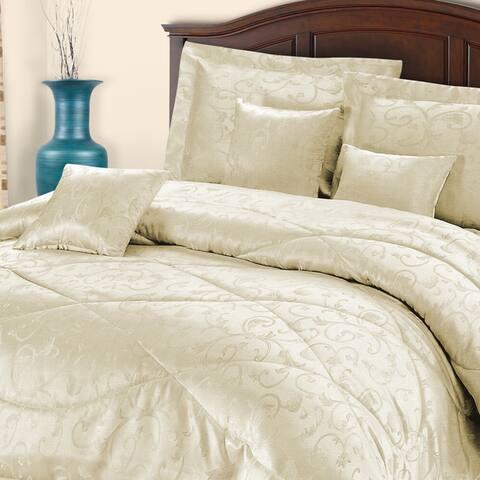 Superior Piazza Wrinkle Resistant 7-piece Brushed Microfiber Comforter Set