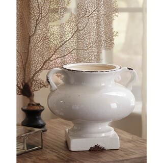 Dierdra Antique White 8-Inch Urn