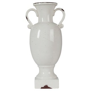 Signature Design by Ashley Dierdra Antique White 10-Inch Urn - N/A