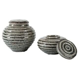 Devonee Antique Gray Jar - Set of 2