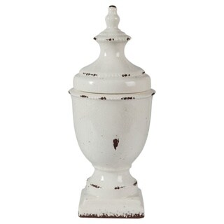 Signature Design by Ashley Devorit Antique 17-Inch White Jar