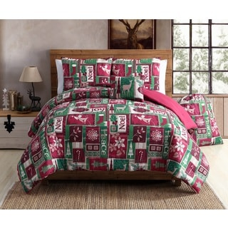 VCNY Home Holiday Patch 4 & 5 Piece Comforter Set