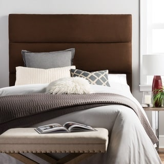 Humble + Haute Hereford Chocolate Suede Upholstered Headboard