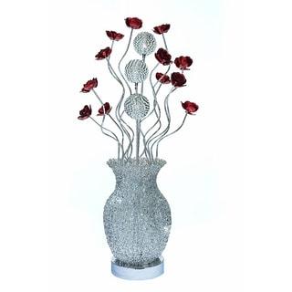 Urban Designs Metal Floral Art Display LED Table Lamp