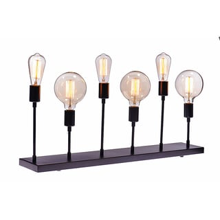 Urban Designs Industrial Console Table Lamp with Edison Bulbs