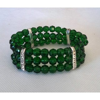 Emerald Green Glass Bracelet