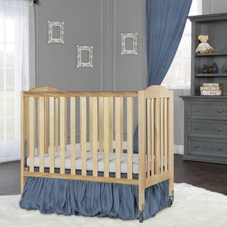 Dream On Me 2 in 1 Folding, Birch Portable Crib