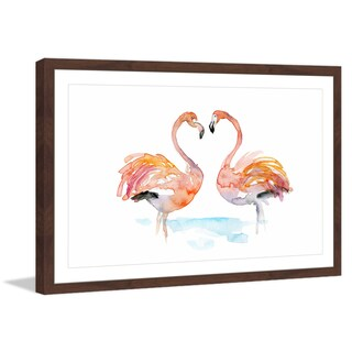 Marmont Hill - 'Flamingo Love' by Michelle Dujardin Framed Painting Print