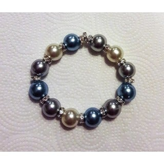 Single Row Faux Pearl Stretch Bracelet