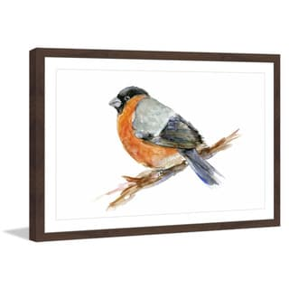 Marmont Hill - 'Red Bird' by Michelle Dujardin Framed Painting Print
