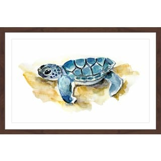 Marmont Hill - 'Baby Sea Turtle' by Michelle Dujardin Framed Painting Print