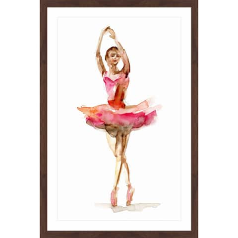 Marmont Hill - Handmade Ballet Bright Pink Framed Print