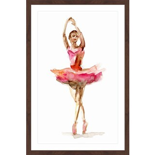 Marmont Hill - 'Ballet Bright Pink' by Michelle Dujardin Framed Painting Print (4 options available)