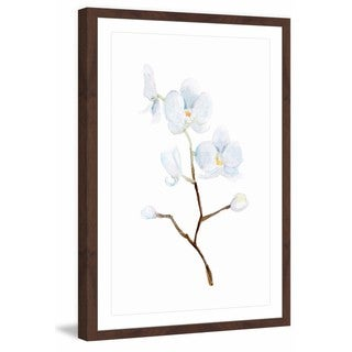 Marmont Hill - 'White Orchid Branch' by Michelle Dujardin Framed Painting Print