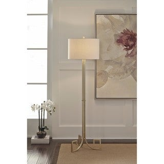 Signature Design by Ashley Jankin Antique Gold Finish Metal Floor Lamp