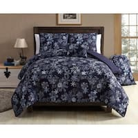 VCNY Home Scroll Snowflake 4 & 5 Piece Comforter Set