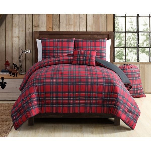 VCNY Home Tartan Plaid 4 & 5 Piece Comforter Set