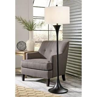 Signature Designs By Ashley Gavivi Dark Brown Metal Floor Lamp Free Shipping Today Overstock