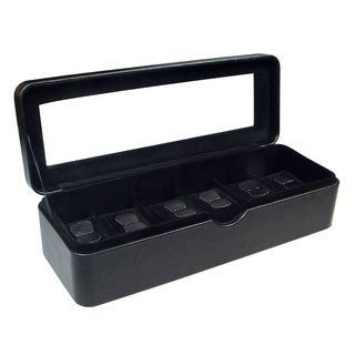 Ikee Design 6 Watch Black Leatherette Watch Case